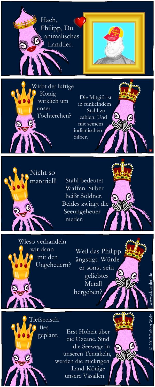 Intrige, Machtspiel, Ränke, List, Täuschung, Comic, Geschichte, Herrschaft, König, Philipp II., Riesenkalmare, Prinzessin, Tiefsee