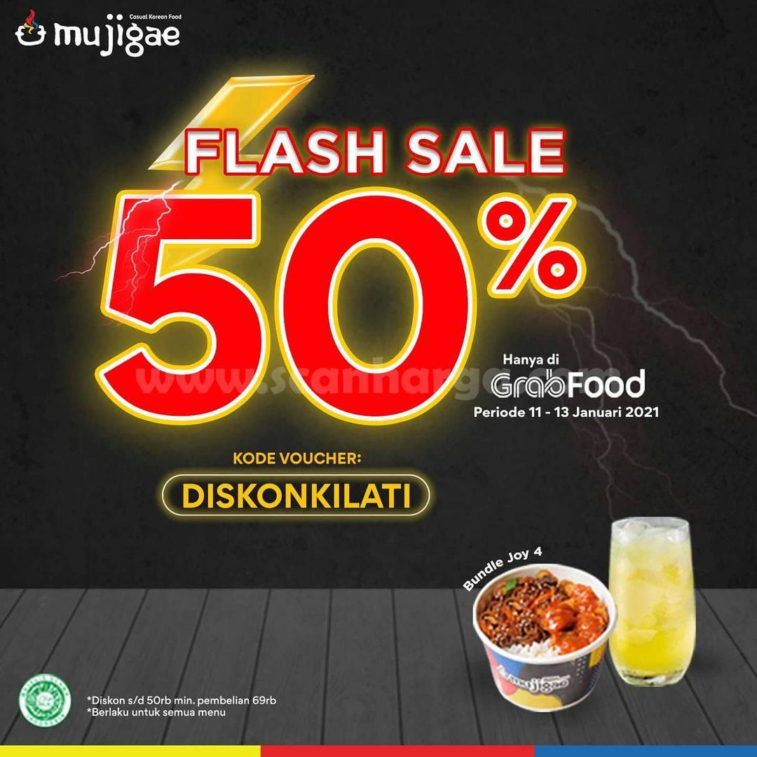 Mujigae Promo Flash Sale Diskon 50% hanya di Grabfood