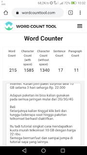 Cara Menghitung Jumlah Kata Secara Online