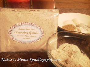 Contact me for:  Cleansing Grains for soap free facial cleansing.