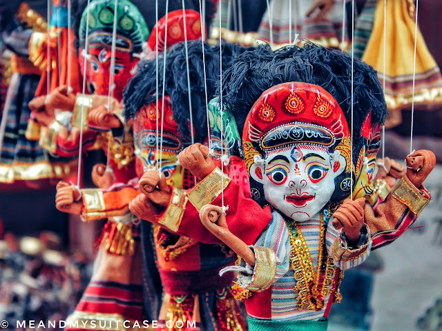 Colourful puppets in Bhaktapur