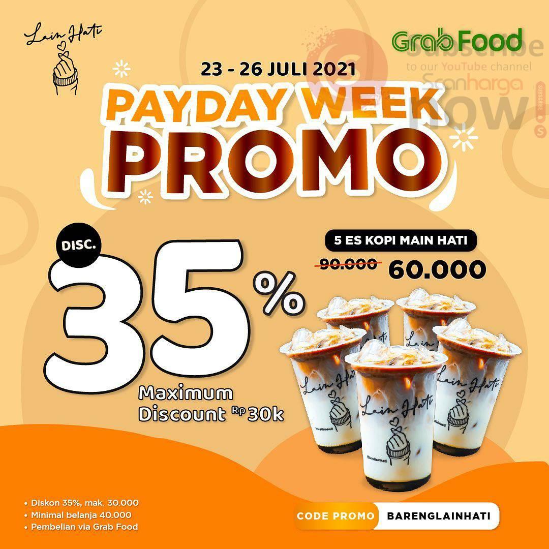 Kopi Lain Hati Promo Payday Week Diskon 35% via Grabfood