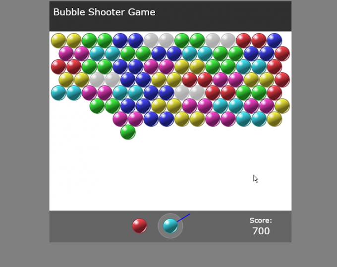 Bubble Shooter Game using JavaScript