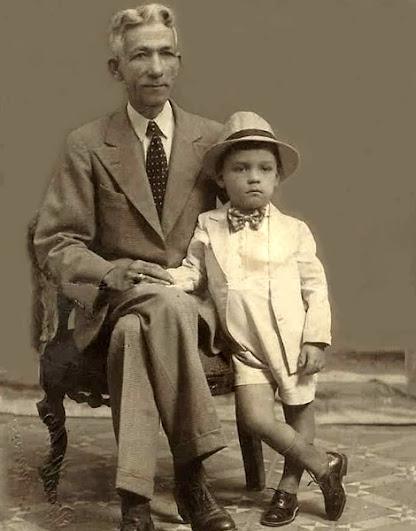 Foto de Rómulo Betancourt con su Padre