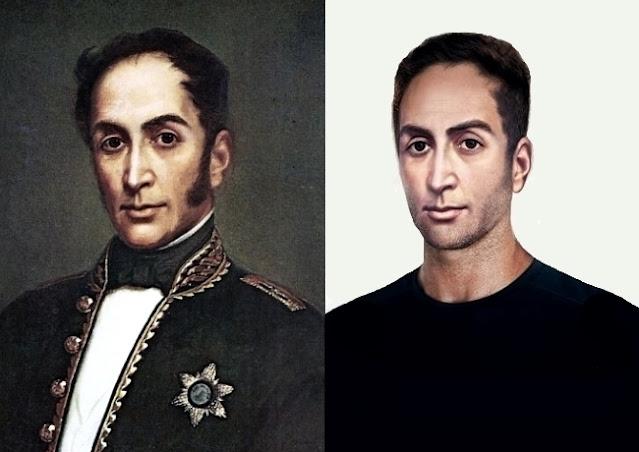 Rostro de Simón Bolívar en la Actualidad
