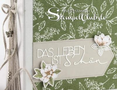 DIY Minialbum 6x6 mit Magnolia Lane von Stampin Up, Papercraft