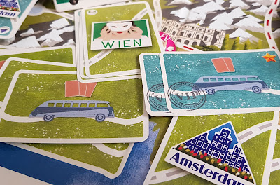 The Great Tour game review route cards used for travel