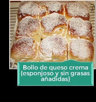 BOLLO DE QUESO CREMA MUY ESPONJOSO Y SIN GRASAS AÃADIDAS