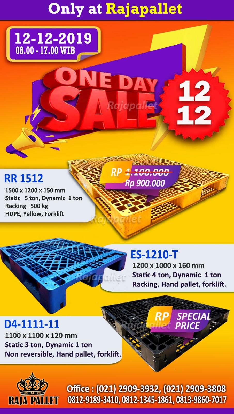 Rajapallet ONE DAY SALE 12-12 Promo Pallet Plastik