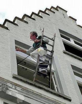 Wohnung selbst Malern - lustige Arbeitsbilder Maler