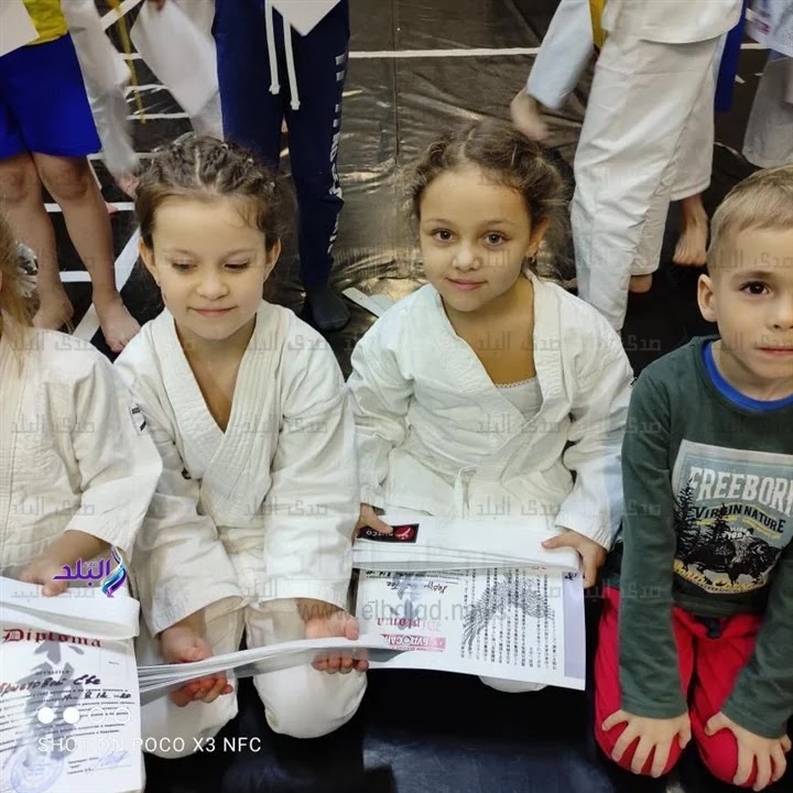 After winning the Miss Russia Children title, Egyptian girl Tia Hamdy wins the Russian Karate Championship