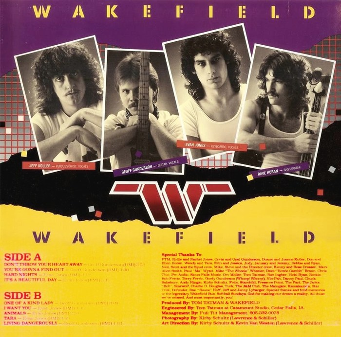 WAKEFIELD - Wakefiled (1985) back