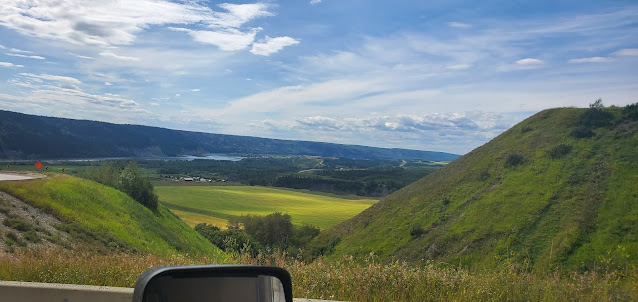 View of the valley below from highway 29