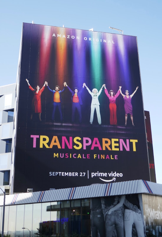 Transparent musical finale billboard