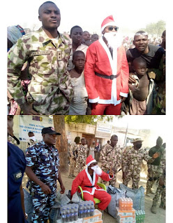 Nigerian Soldiers Put Smiles On The Faces Of Communities Tomented By Boko Haram On Christmas (Photo)