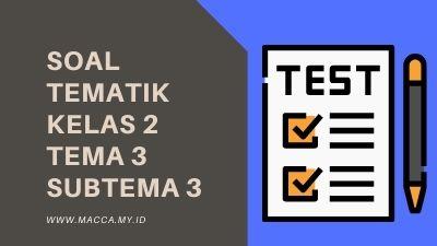 Soal Tematik Kelas 2 Tema 3 Subtema 3