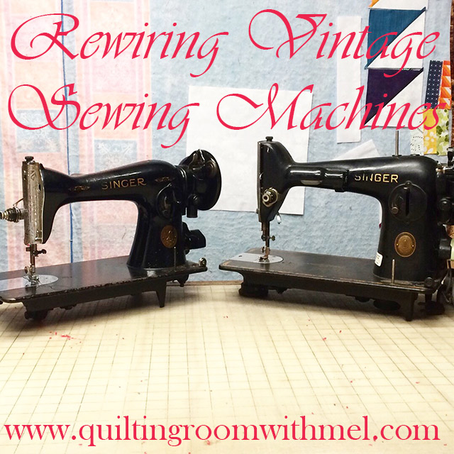 rewiring vintage sewing machines