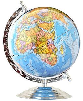 Laminated Steel Finish Globe for Students