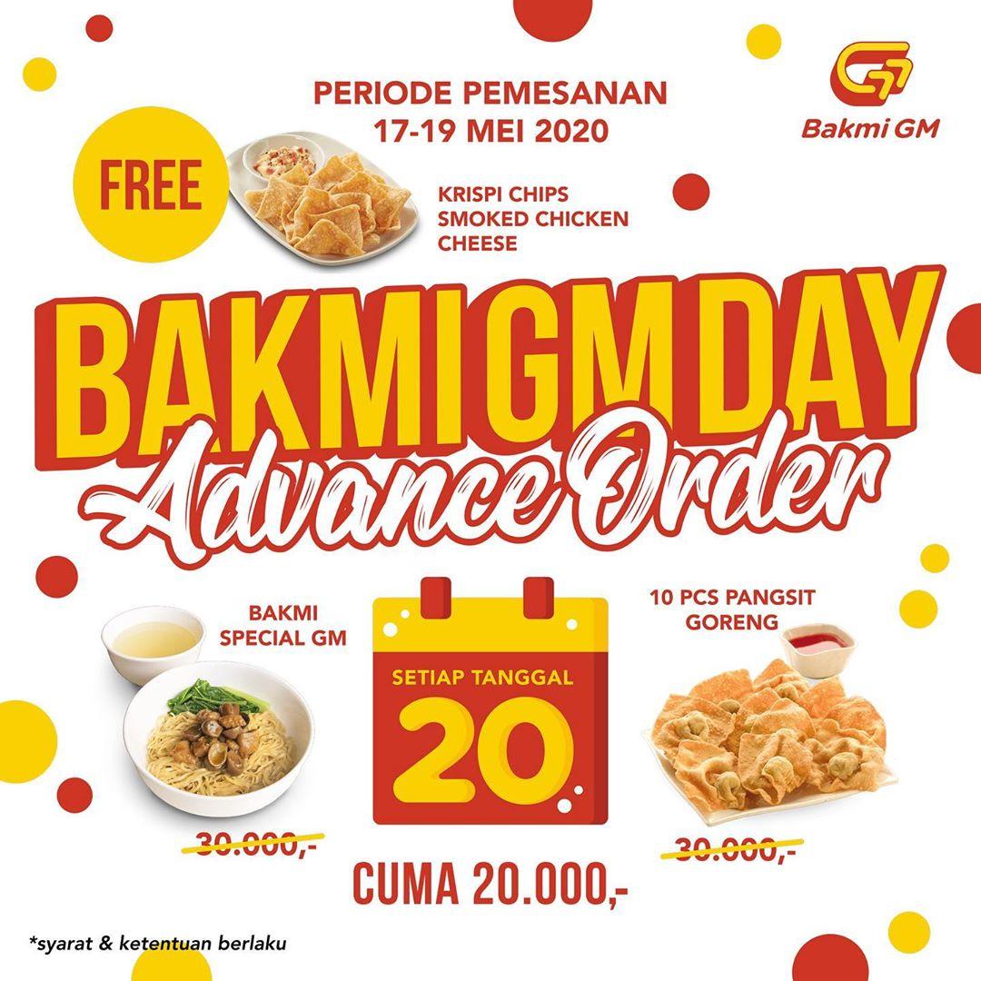 Promo Bakmi GM Bonus Gratis Krispi Chips Mulai Pesan 17 - 19 Mei 2020