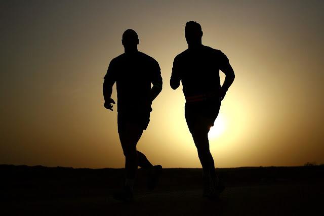stress free travel cover joggind man