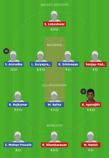 Dream11 team for VKV vs KAK 7th Match