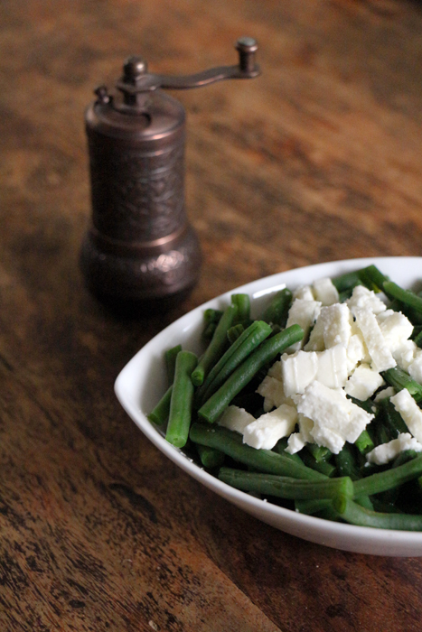 Mezze: Grüne Bohnen mit Feta