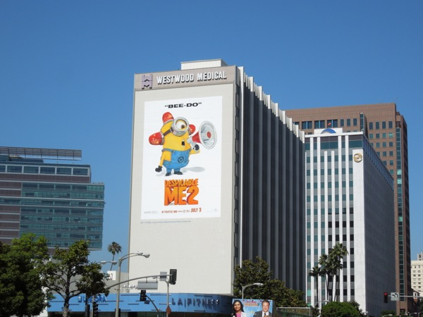 Giant Despicable Me 2 billboard Westwood