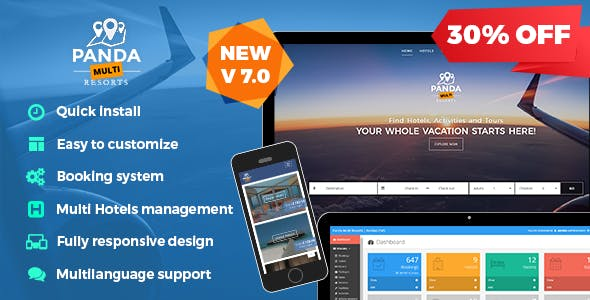 Panda Multi Resorts v7 0 6 - Booking CMS for Multi Hotels Nulled