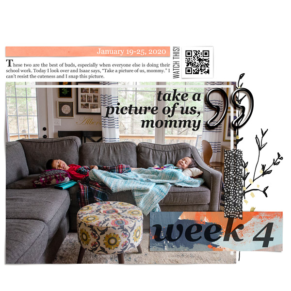 Stories of Life Digital Scrapbook Page Week 4 {left}