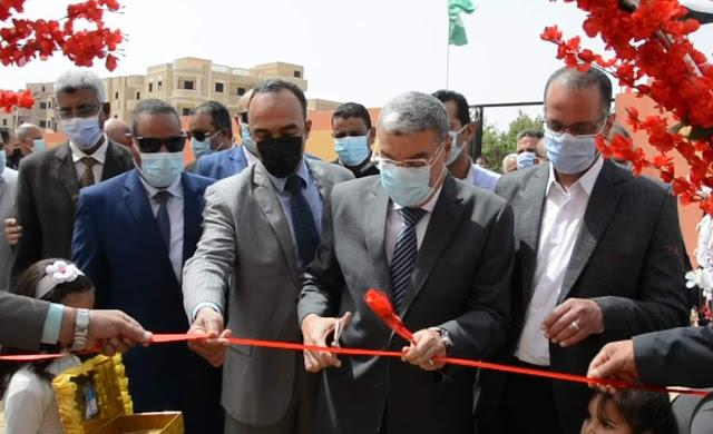 محافظ المنيا يفتتح عددا من المشروعات الخدمية ، ضمن احتفالات العيد القومي