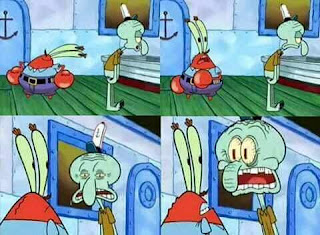 Polosan meme spongebob dan patrick 2 - squidward marah ke tuan krab