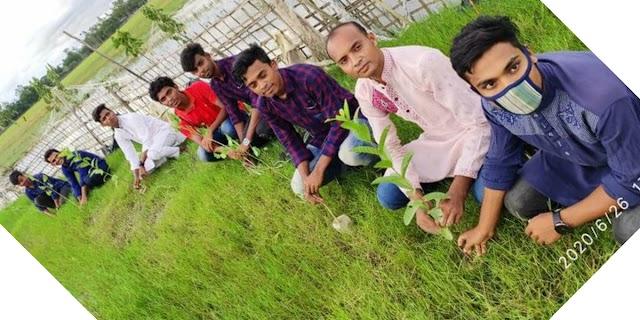 বাঁশখালী উপজেলা ছাত্রলীগ এর উদ্যোগে শেখেরখীলে বৃক্ষরোপণ কর্মসূচি
