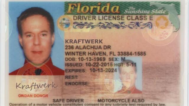 M Kraftwerk driver license class E