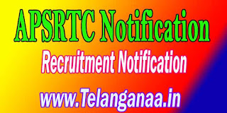 APSRTC Anantapuram Driver Recruitment Notification 2016