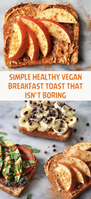 SIMPLE HEALTHY VEGAN BREAKFAST TOAST THAT ISN'T BORING