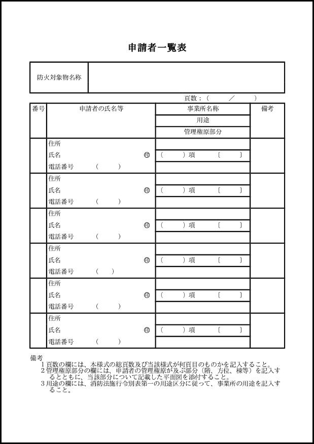 申請者一覧表 097