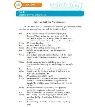 Terjemahan Teks DIALOG Chapter 7 Task 1 Hal 97-98 Kelas 10