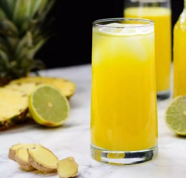 Pineapple Ginger Cleansing Juice #juice #drinks