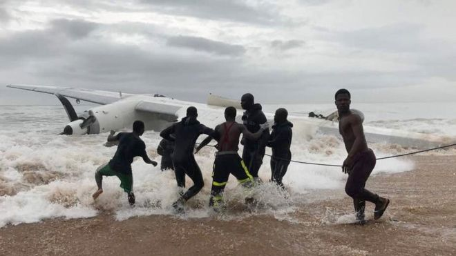 Cargo plane crashes into sea off Ivory Coast with three deaths