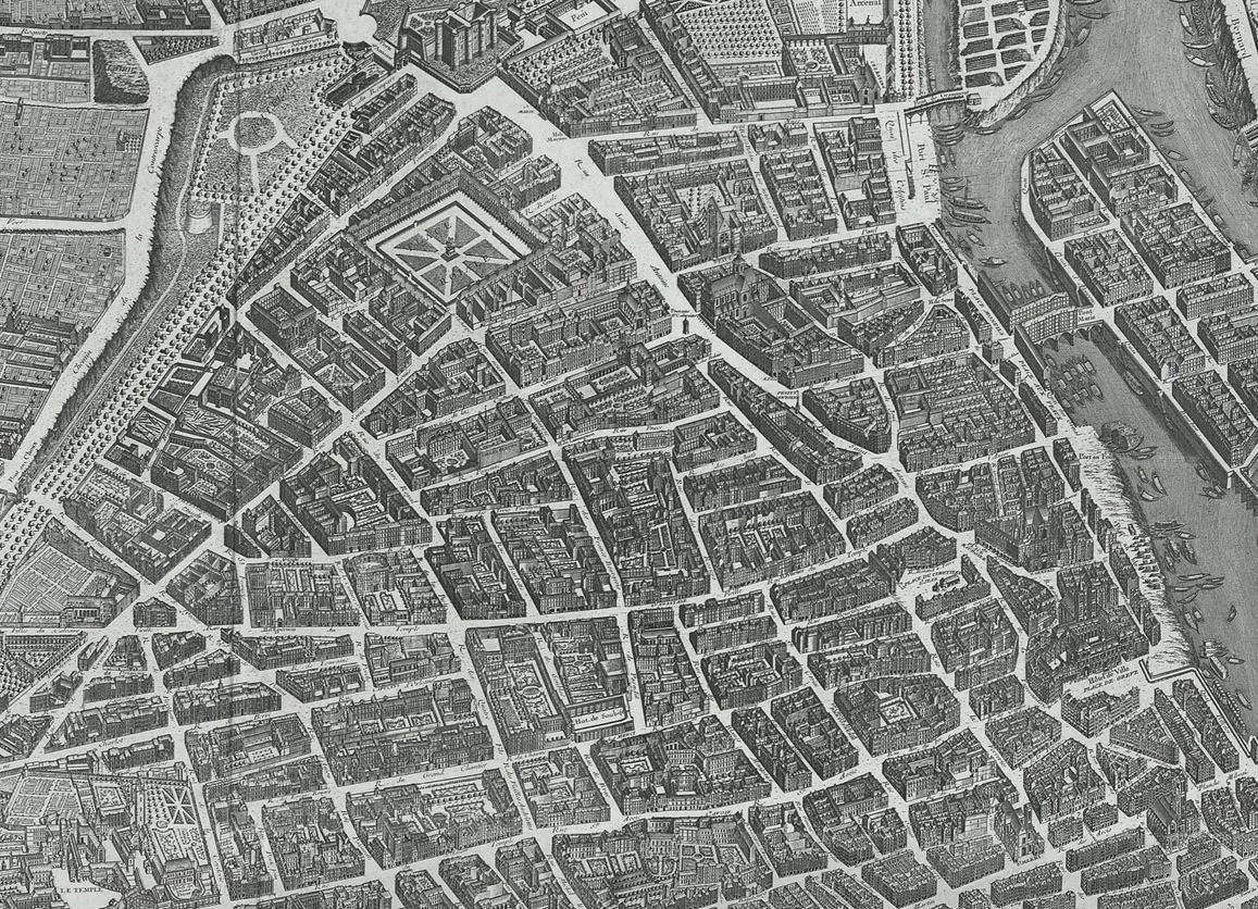 Plan Turgot Paris Marais