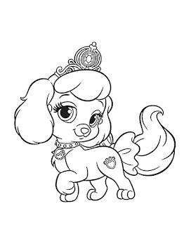 כלבים של נסיכות דיסני לצביעה