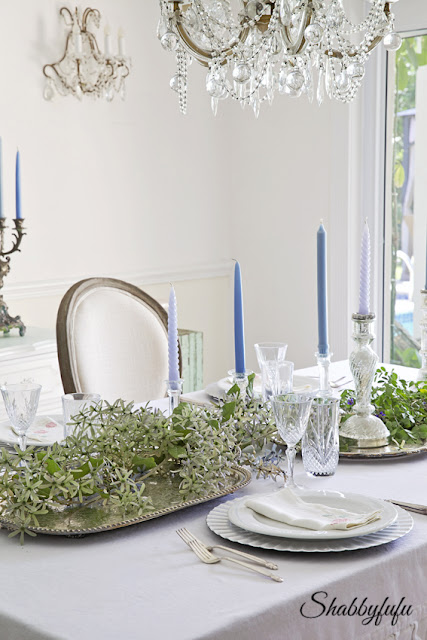 elegant shabby chic table setting