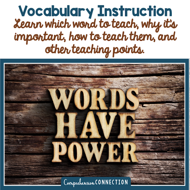 Quality vocabulary instruction takes thoughtful planning. Check out this post for a detailed look at why, how, what, and when to teach vocabulary.