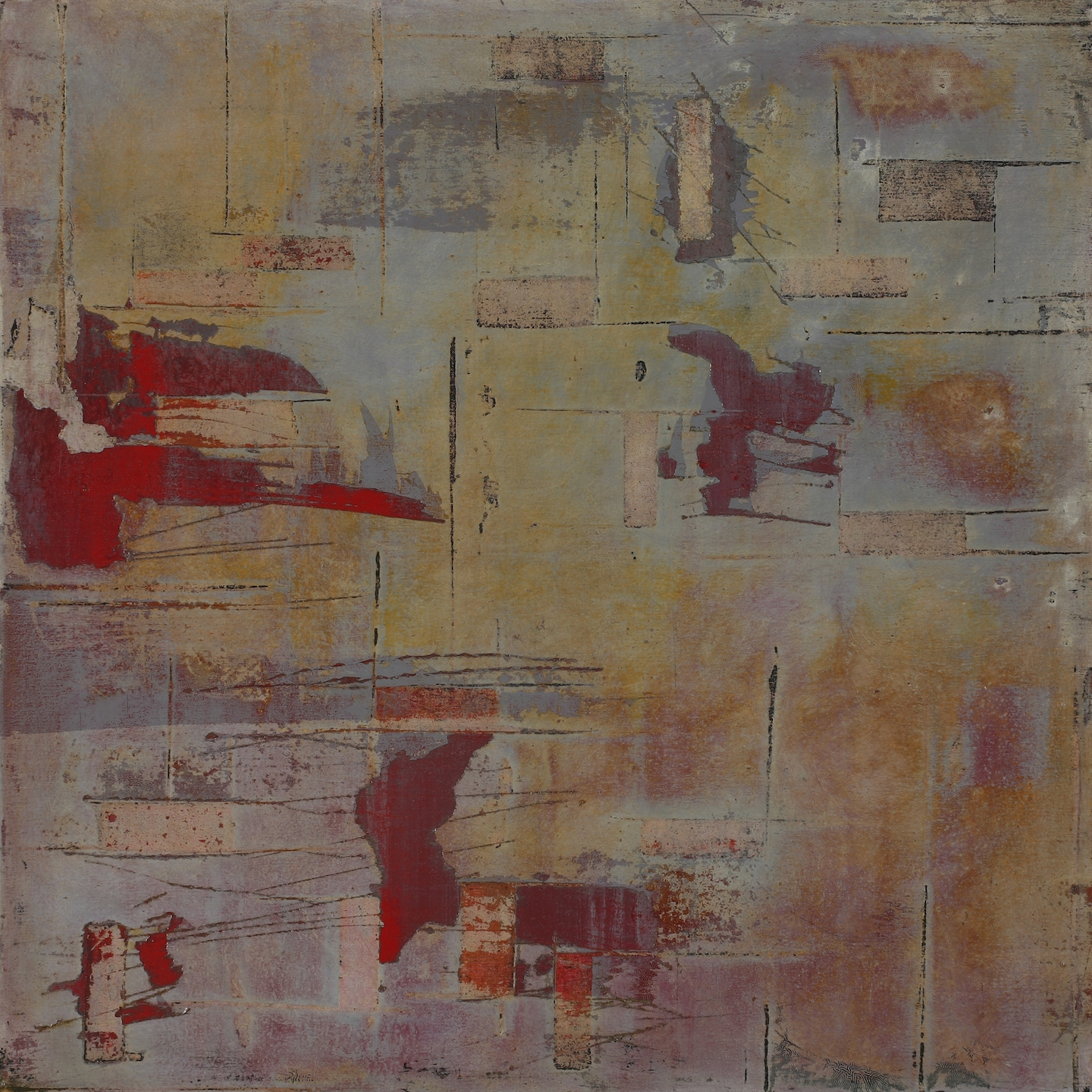 Image of the abstract painting entitled Skinned 3 by artist Martha Hope Carey