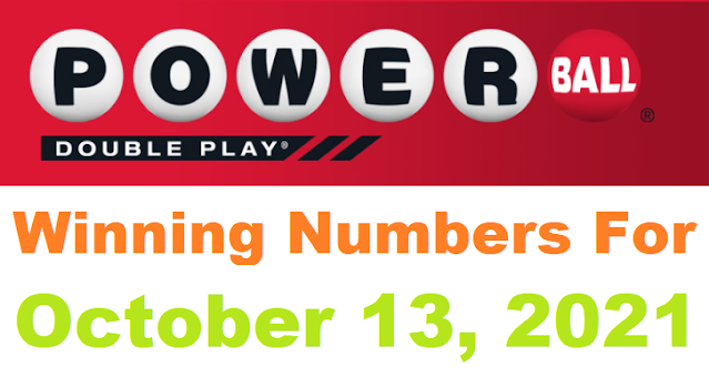PowerBall Double Play Winning Numbers for October 13, 2021