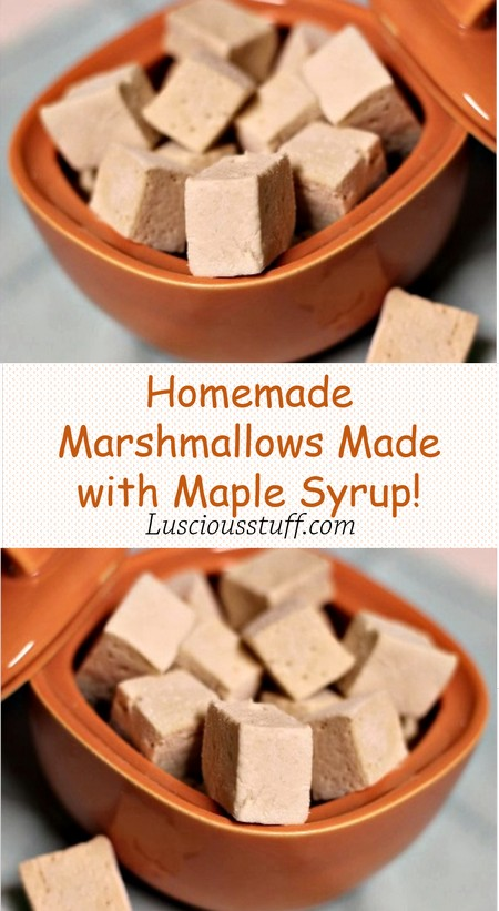 Homemade Marshmallows Made with Maple Syrup!