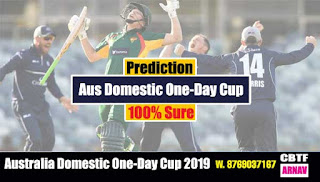 Aus Domestic One-Day Cup SA vs NSW 6th Match Prediction Today