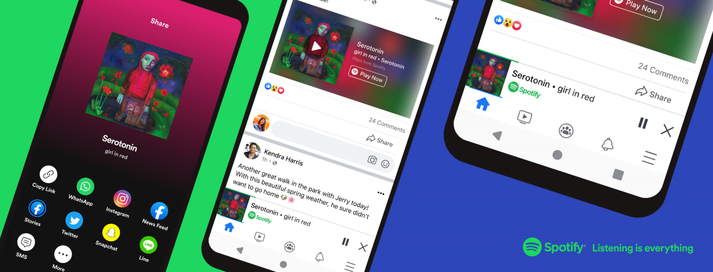 Spotify direttamente in Facebook su Android e iOS