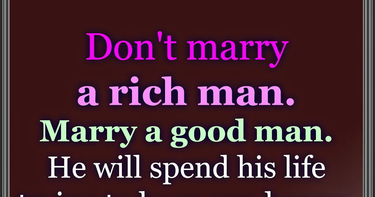 How can i marry a rich man