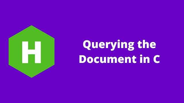 HackerRank Querying the Document in c problem solution